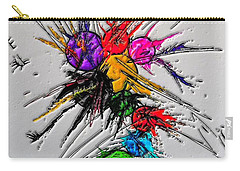 Carry-all Pouch featuring the digital art Plash Original Paint By Nico Bielow by Nico Bielow
