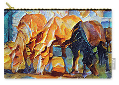 Plastic Horses Carry-all Pouch