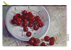 Plate With Cherries Carry-all Pouch