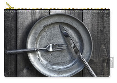 Plate With Silverware Carry-all Pouch