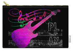 Carry-all Pouch featuring the digital art Play 5 by Guitar Wacky