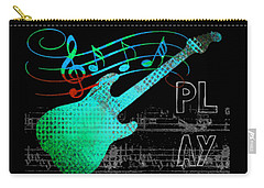 Carry-all Pouch featuring the digital art Play 4 by Guitar Wacky