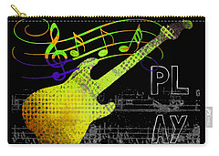 Carry-all Pouch featuring the digital art Play 2 by Guitar Wacky