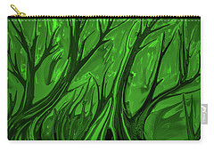 Carry-all Pouch featuring the digital art Play Green #h6 by Leif Sohlman