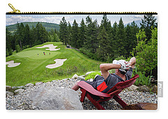 Carry-all Pouch featuring the photograph Play Through Or Enjoy The View by Darcy Michaelchuk
