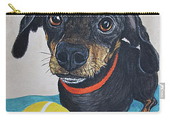 Playful Dachshund Carry-all Pouch