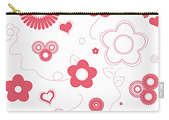 Playful Flower Background Carry-all Pouch by Serena King