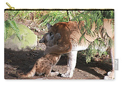 Carry-all Pouch featuring the photograph Playful Hugs by Laddie Halupa