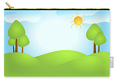 Playful Kid's Spring Backdrop Carry-all Pouch by Serena King
