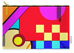 Carry-all Pouch featuring the digital art Playful by Silvia Ganora