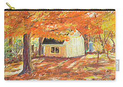 Carry-all Pouch featuring the painting Playhouse In Autumn by Carol L Miller