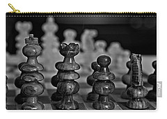 Carry-all Pouch featuring the photograph Playing Chess 2 by Cendrine Marrouat