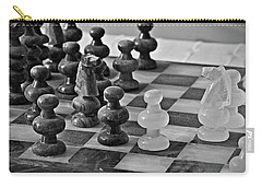Carry-all Pouch featuring the photograph Playing Chess by Cendrine Marrouat
