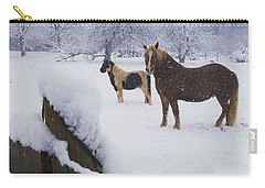 Playing In The Snow Carry-all Pouch