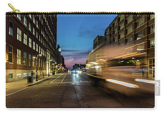 Carry-all Pouch featuring the photograph Playing In Traffic by Randy Scherkenbach