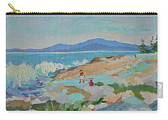 Playing On Schoodic Rocks Carry-all Pouch