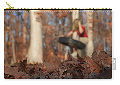 Carry-all Pouch featuring the photograph Playing On The Tire Swing by Greg Collins