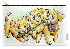 Playtime Golden Retriever Carry-all Pouch