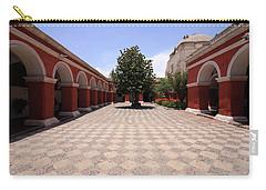 Plaza At Santa Catalina Monastery Carry-all Pouch by Aidan Moran
