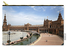 Carry-all Pouch featuring the photograph Plaza De Espana 4 by Andrew Fare