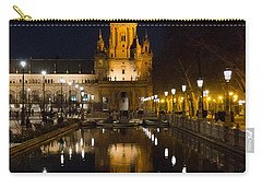 Plaza De Espana At Night - Seville 6 Carry-all Pouch