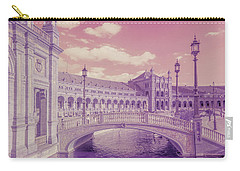 Carry-all Pouch featuring the photograph Plaza De Espana. Dreamy by Jenny Rainbow