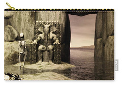 Carry-all Pouch featuring the digital art Plea Of The Penitent To The Lord Of Perdition by John Alexander