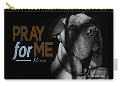 Carry-all Pouch featuring the digital art Please Pray For Me by Kathy Tarochione