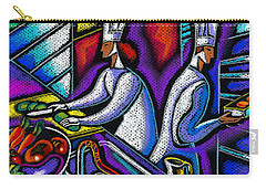 Carry-all Pouch featuring the painting  Pleasure Of The Food Preparation by Leon Zernitsky
