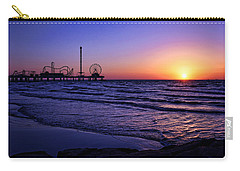 Pleasure Pier Sunrise Carry-all Pouch by Judy Vincent