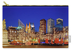 Carry-all Pouch featuring the photograph Plein At Blue Hour - The Hague by Barry O Carroll