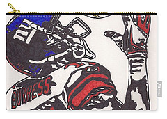 Carry-all Pouch featuring the drawing Plexico Burress by Jeremiah Colley