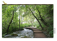 Carry-all Pouch featuring the photograph Plitvice Lakes National Park by Travel Pics