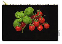 Carry-all Pouch featuring the photograph Plum Cherry Tomatoes Basil by David French