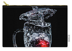 Carry-all Pouch featuring the photograph Plum Splash by Ray Shiu