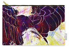 Carry-all Pouch featuring the digital art Plumage Bald Eagle  by PixBreak Art