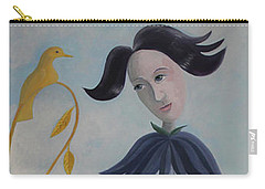 Carry-all Pouch featuring the painting Plume by Tone Aanderaa