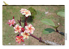Carry-all Pouch featuring the photograph Plumeria Flowers by Jingjits Photography