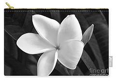 Plumeria In Monochrome Carry-all Pouch