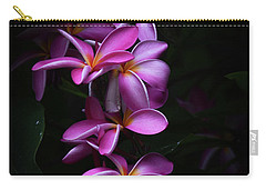 Plumeria Light Carry-all Pouch by Kelly Wade