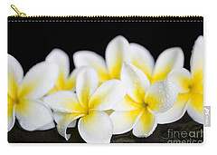 Carry-all Pouch featuring the photograph Plumeria Obtusa Singapore White by Sharon Mau