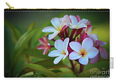 Carry-all Pouch featuring the photograph Plumeria Sunset by Kelly Wade