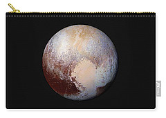Pluto Dazzles In False Color Carry-all Pouch by Nasa