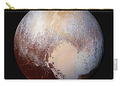 Pluto Dazzles In False Color - Square Crop Carry-all Pouch