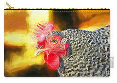 Plymouth Barred Rock Portrait Carry-all Pouch
