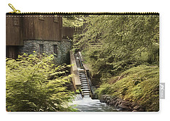 Carry-all Pouch featuring the photograph Plymouth Fish Ladder by Robin-Lee Vieira