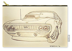 Plymouth Gtx American Muscle Car - Antique  Carry-all Pouch