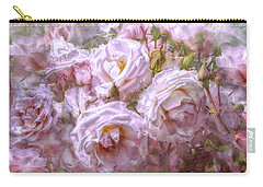 Carry-all Pouch featuring the digital art Pocket Full Of Roses by Kari Nanstad