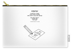 Carry-all Pouch featuring the drawing Poetry by John Haldane