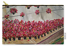 Carry-all Pouch featuring the painting Poinsettia Greenhouse by Judith Rhue